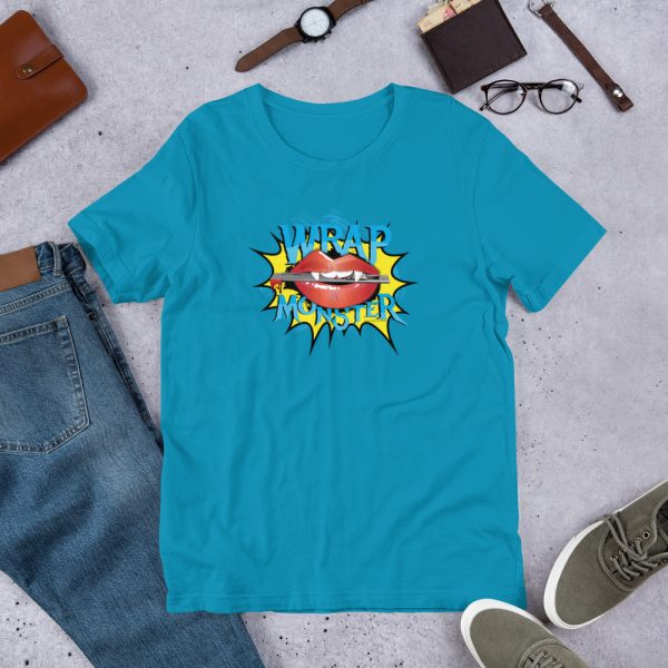 Aqua Wrap Monster Graphic T-Shirt