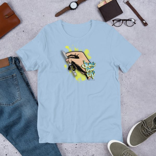 Light Blue Just the Tip - Olfa Knife Graphic T-Shirt