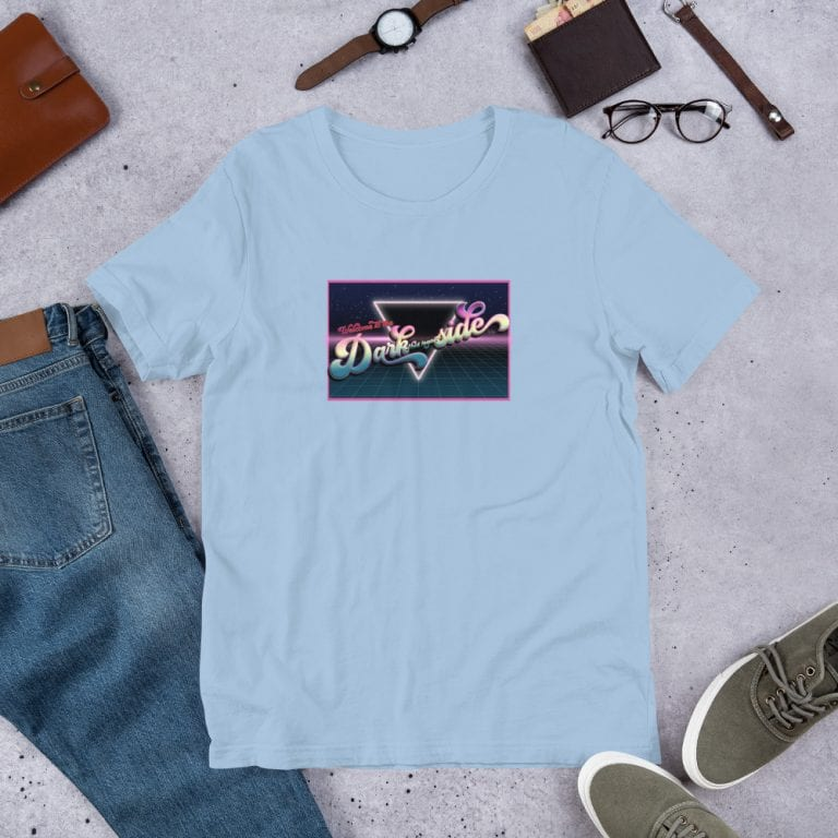 Light Blue Welcome to the Dark (but Legal) Side Graphic T-Shirt