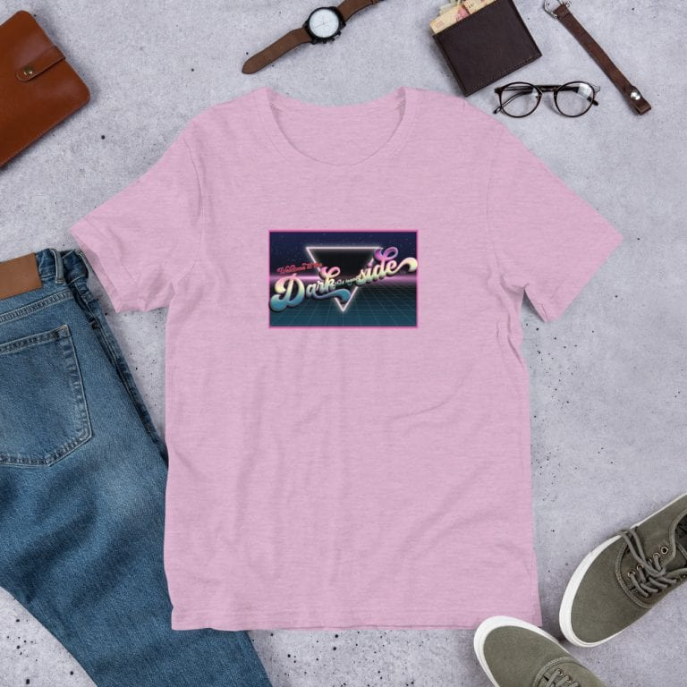 Heather Prism Lilac Welcome to the Dark (but Legal) Side Graphic T-Shirt