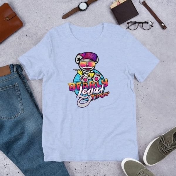 Heather Blue Bearly Legal Tintin' Graphic T-Shirt