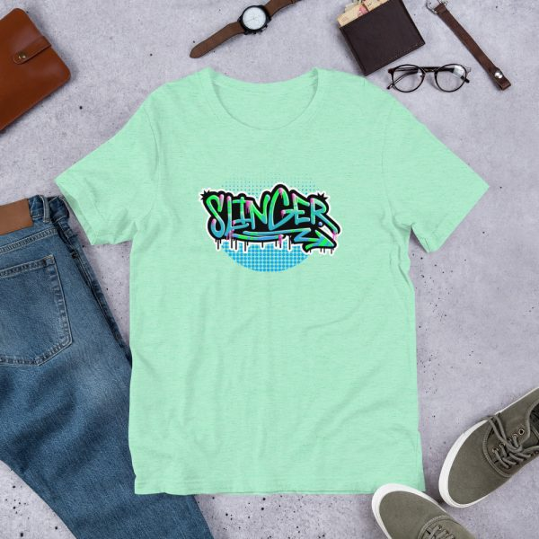 Heather Mint Slinger - Graffiti Edition Graphic T-Shirt