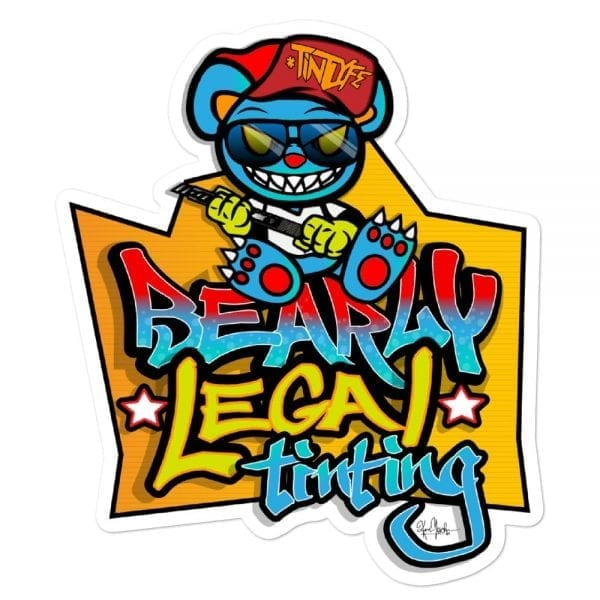 Bearly Legal Tinting - Graffiti Vinyl Sticker