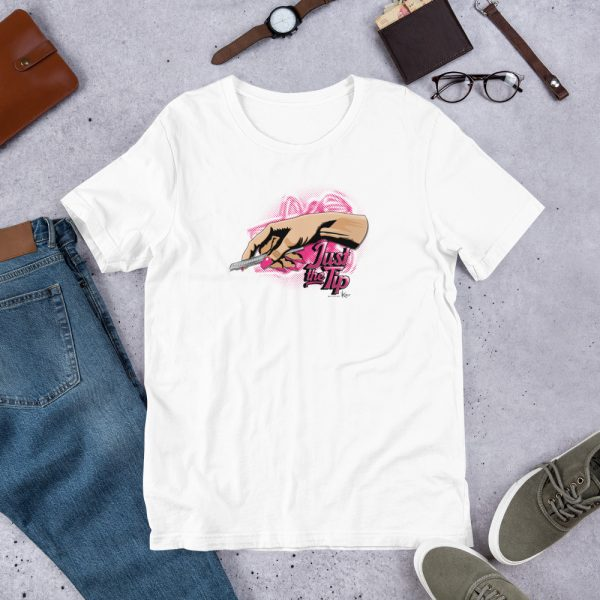 White Just the Tip - #BossBitch Graphic T-Shirt