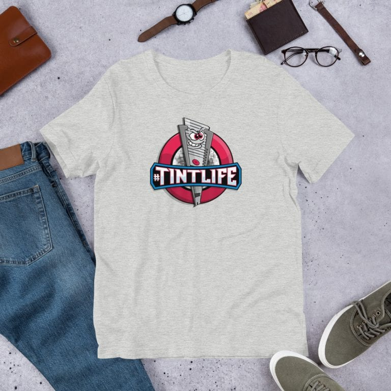 Athletic Heather Red Dot - #Tintlife Graphic T-Shirt