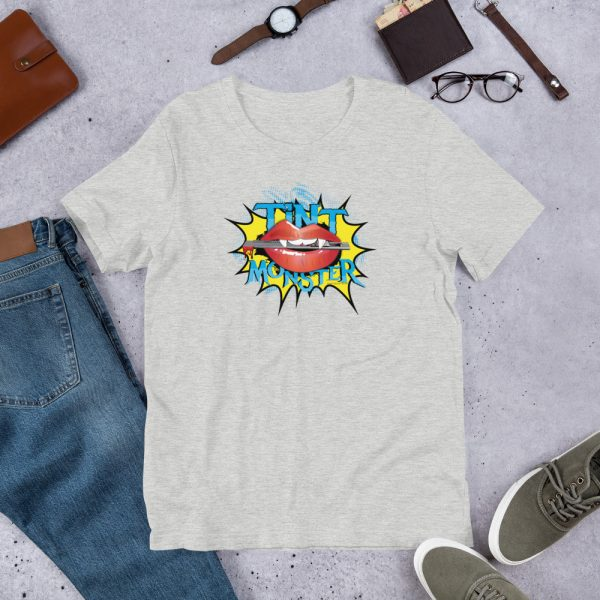 Athletic Heather Tint Monster Graphic T-Shirt