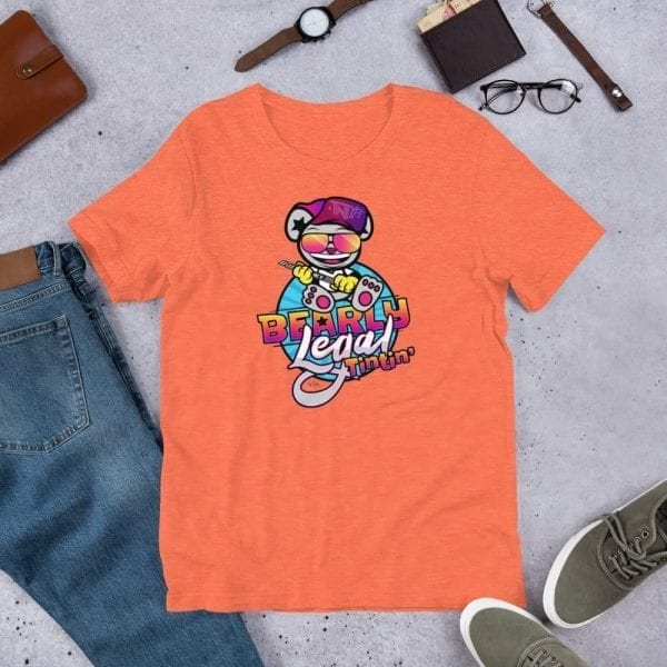 Heather Orange Bearly Legal Tintin' Graphic T-Shirt