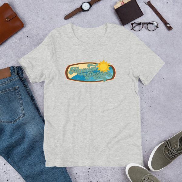 Athletic Heather Manual Plotter - Beach Edition Graphic T-Shirt